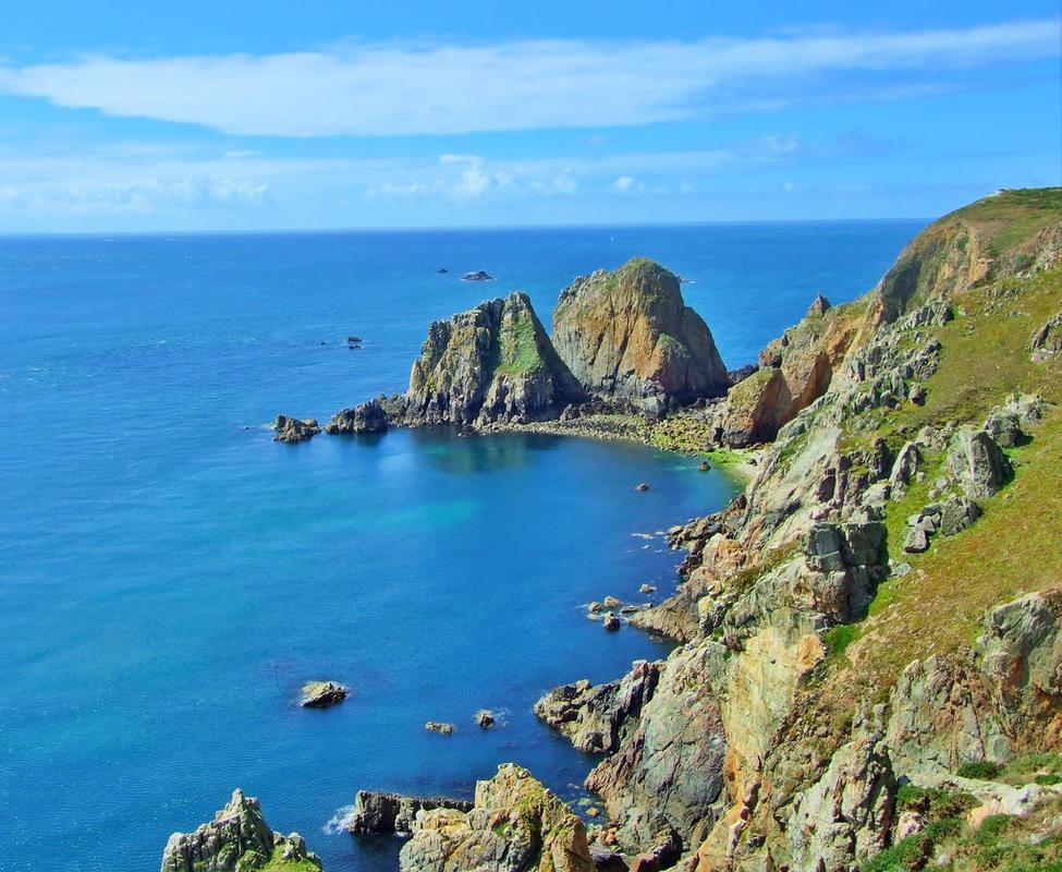 """Coastal Cliffs-Alderney"" by Neil Howard via Flickr Creative Commons"