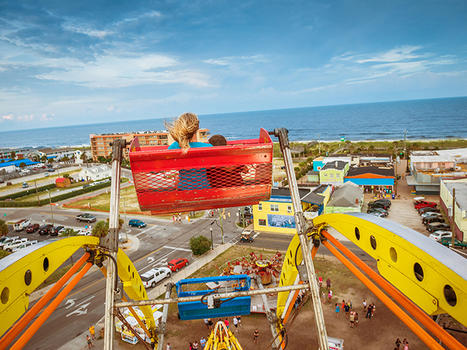 Boardwalk summer seaside amusements