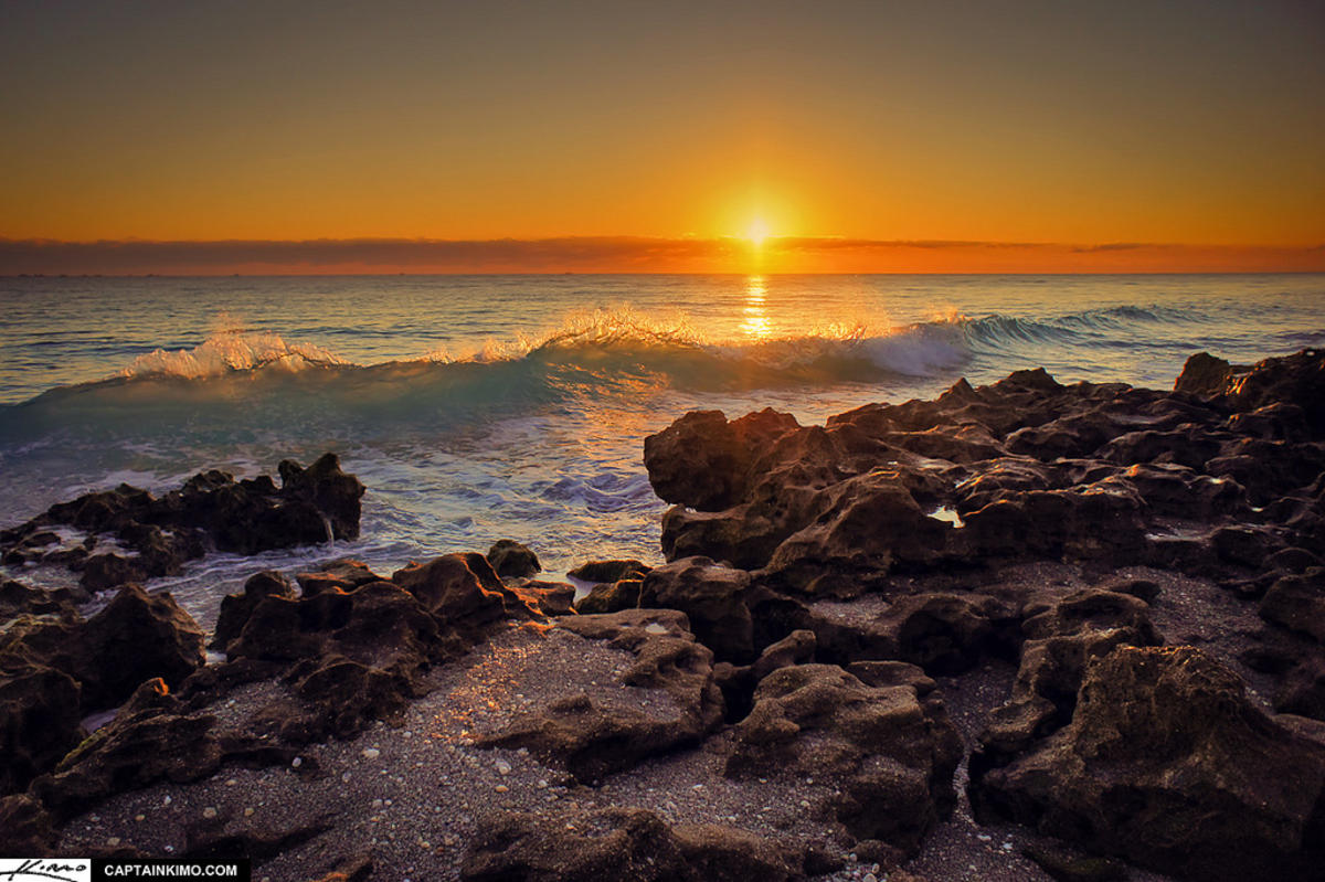 """""""Large Wave During Sunrise at Coral Cove Park"""" by Kim Seng via Flickr Creative Commons"""