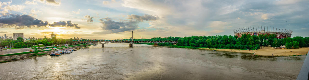 Stadion Narodowi - Warsaw, Poland - Panorama landscape photography by Giuseppe Milo via Flickr Creative Commons
