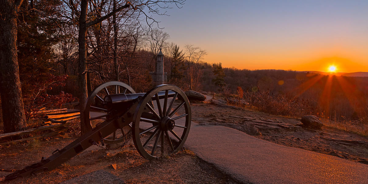 Gettysburg Sunset Cannon - HDR by Nicolas Raymond via Flickr Creative Commons