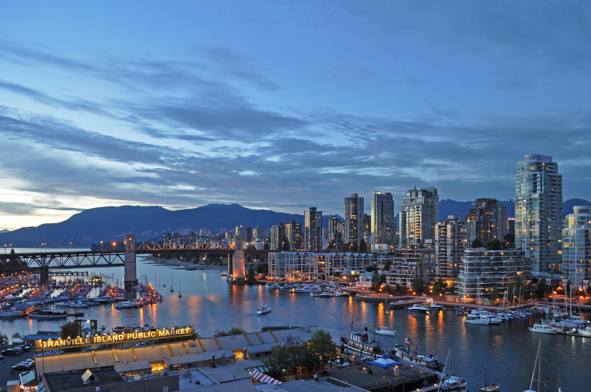 Canada - Vancouver - False Creek, Burrard Bridge Photo by Harshil Shah via Flickr Creative Commons