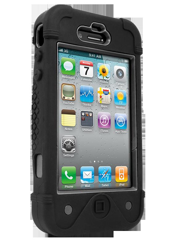 iFrogz Apple iPhone 4/4S BullFrogz Case Black/Grey