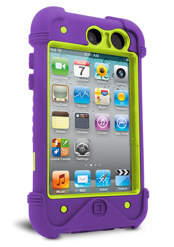 iFrogz Apple iPod Touch 4th Gen Bullfrog Case Purple/Green