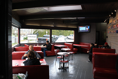 Main seating area in the restaurant.