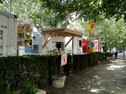 Check out the rows of amazing food trucks and carts the next time you're hungry in Portland. Photo: Flickr