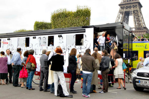 In Paris in 2012 people line up to have a lunch inside a 'Restaumobile' restaurant truck, where top French chefs serve meals to promote French food. Portland, Ore., encourages outdoor food carts or trucks, with about 440 set up around the city serving a wide selection of cuisines. Charles Platiau/Reuters