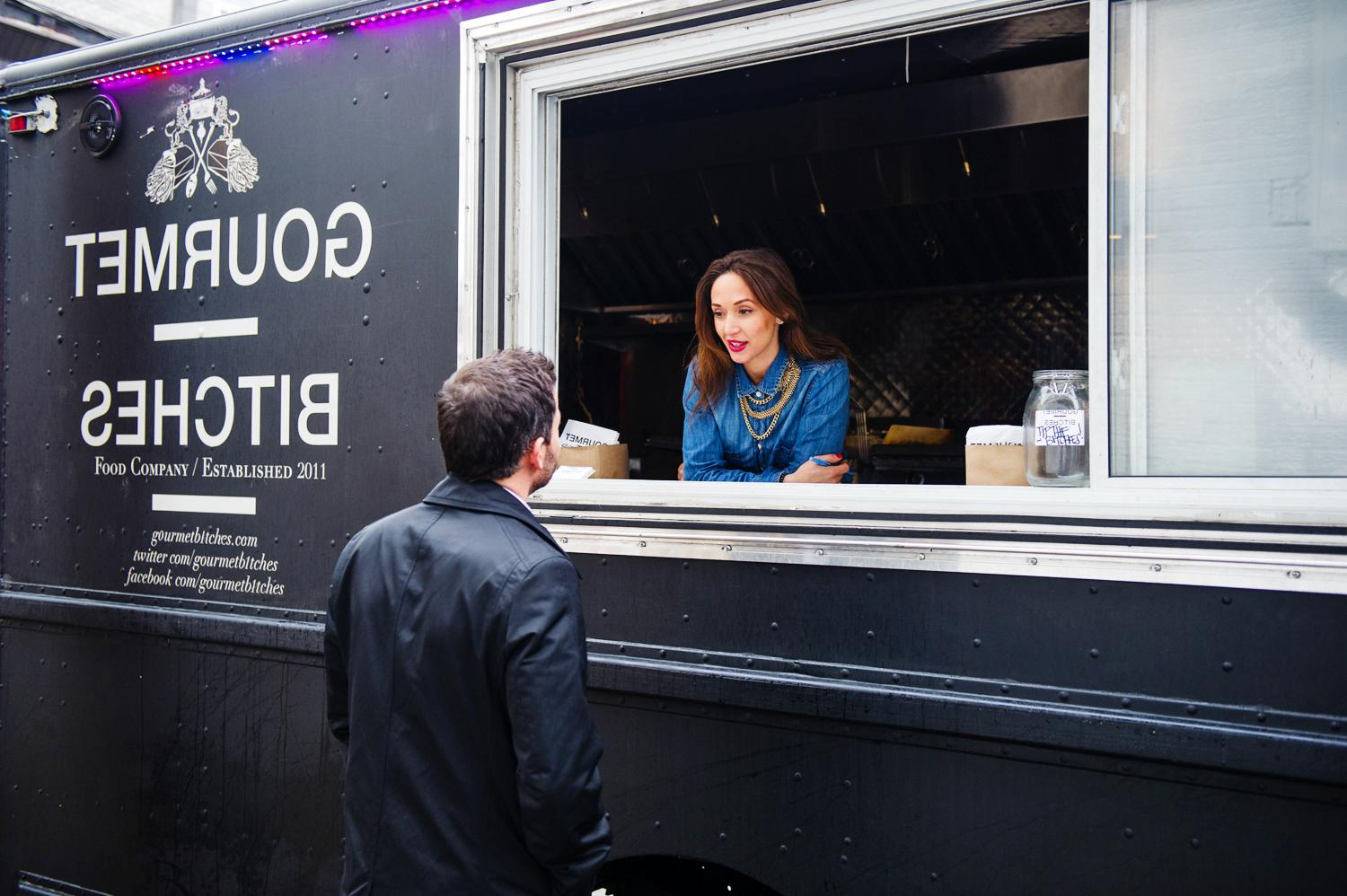 Giles Coren visits the Gourmet Bitches food truck.