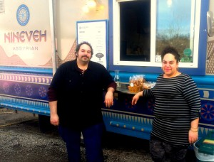"""Jacob and Lisa David have been """"overwhelmed and touched"""" by the community support not only for their food but for the events they host to raise funds for refugee relief organizations."""
