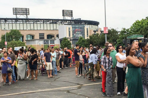 Patrons wait in line at the Chicago Food Truck Fest last year. For this year's fest, organizers plan to double the number of food trucks.