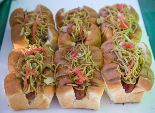Japanese hot dogs at the first L.A. Street Food Fest Anne Fishbein