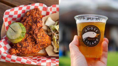 Photograph (l to r): Jakob N. Layman / Goose Island Beer Hot chicken and beer are a match made in heaven.