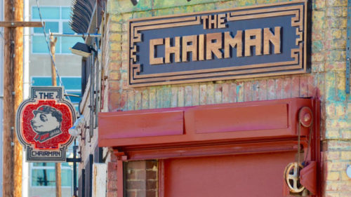 The exterior of the Chairman, a new restaurant in the downtown Arts  District.  (Eddie Lin / For The Times)