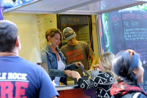 2014 Main Street Food Truck Festival in Little Rock, Arkansas.