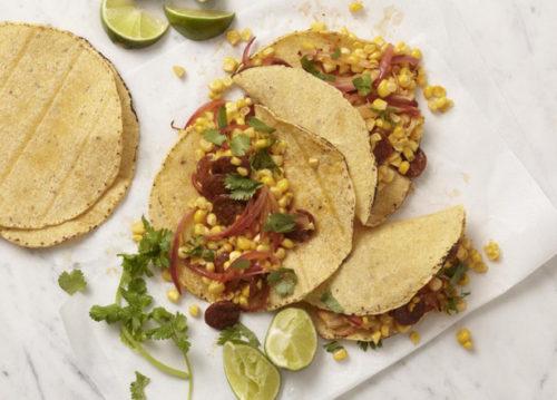 Chorizo corn tacos. (Photo: Tara Bench/tarateaspoon.com)