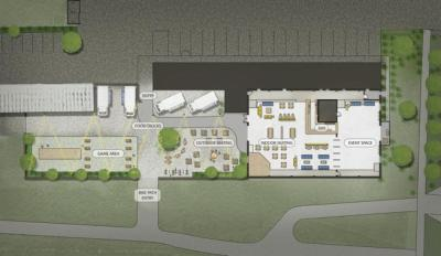 The expected layout of a planned food truck park  set to open at 28th Street and Valmont Park  the first week of July.  (Justin Riley | Boulder Food Park | Co-Founder & CEO / Courtesy Photo)
