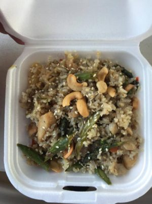 Fresh Out The Box features its  Pine-aragus fried rice.  Ty Beaver Tri-City Herald