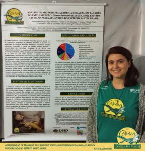 Apresentação de trabalho em V Simpósio sobre a biodiversidade da mata Atlântica fotografado no Espírito Santo, Brasil