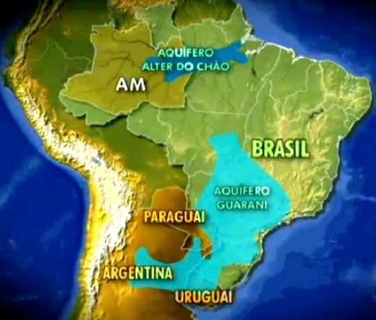 Principais aquíferos no Brasil
