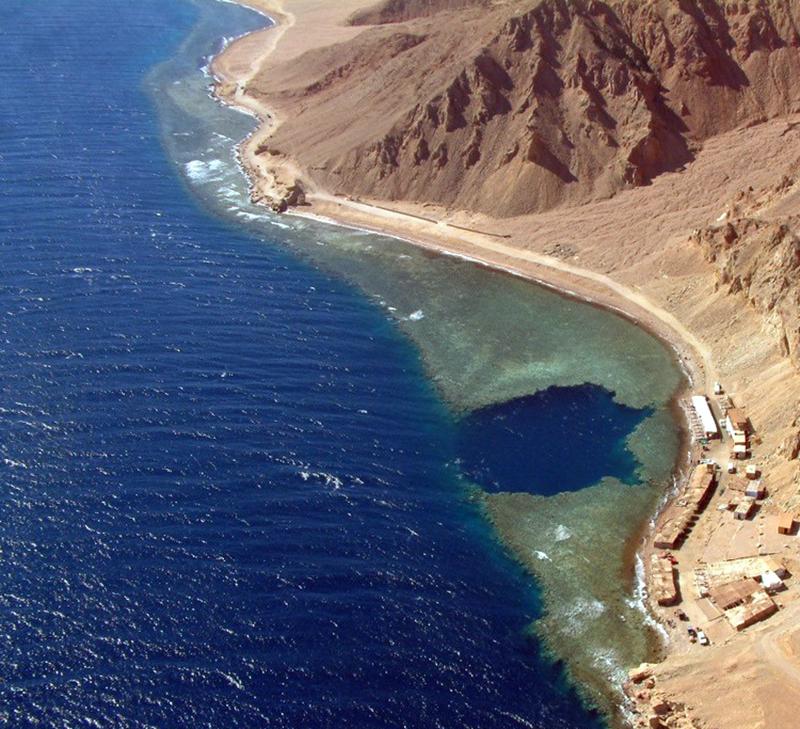 Buraco azul no Egito