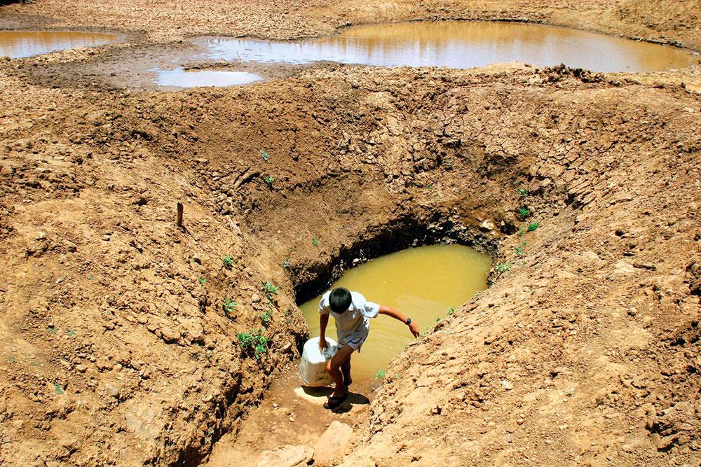 Pouco de Água em período de seca