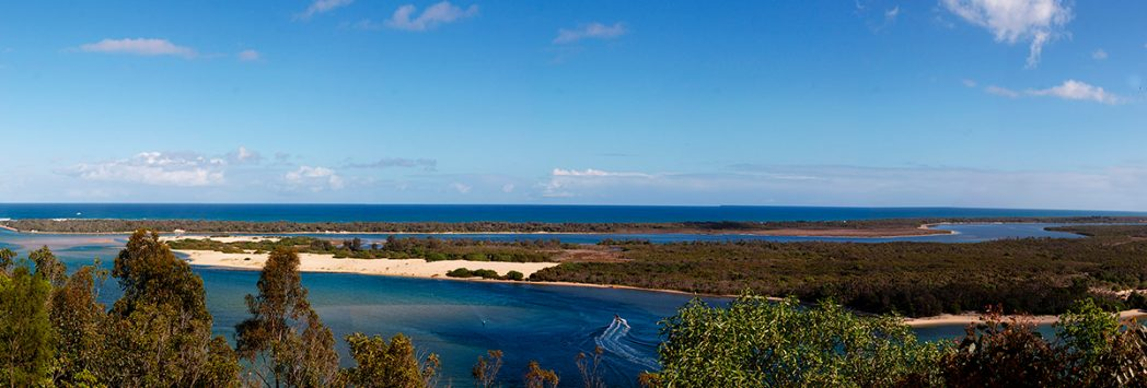 Gippsland lakes vista panoramica