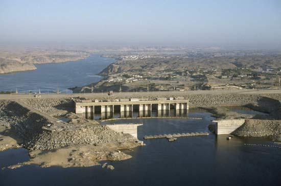 Hidreletrica de Aswan no Rio Nilo