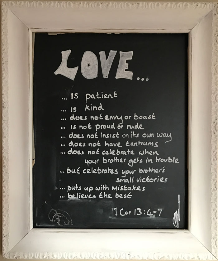 Our Kitchen Chalkboard