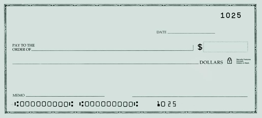 bank of america blank check