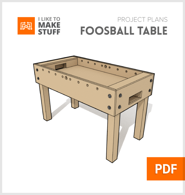 Foosball Table Digital Plan I Like To Make Stuff