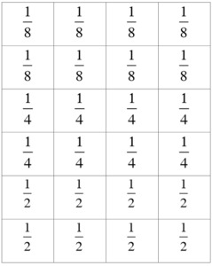 image relating to Printable Fraction Cards titled Illustrative Arithmetic