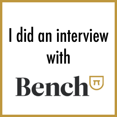 I did an interview for Entrepreneurial Life on Bench I Love Coffee