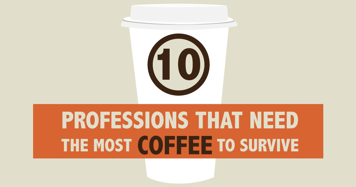 10 professions that need the most coffee to survive