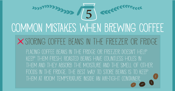 5 Common mistakes when brewing coffee