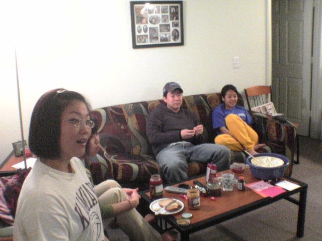lillia, han and ruthie enjoy lost @ al-pal and lillia's