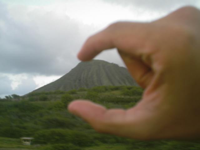 Hawaiian mountains aren't that big.