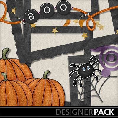 digital scrapbooking kits october magic frames holidays halloween mymemories