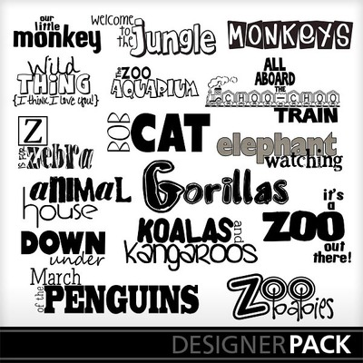 At_the_zoo_word_art_vol_1