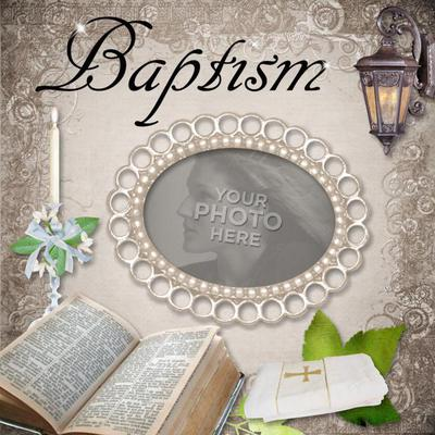 Digital Scrapbooking Kits | Baptism Template | Religious | MyMemories