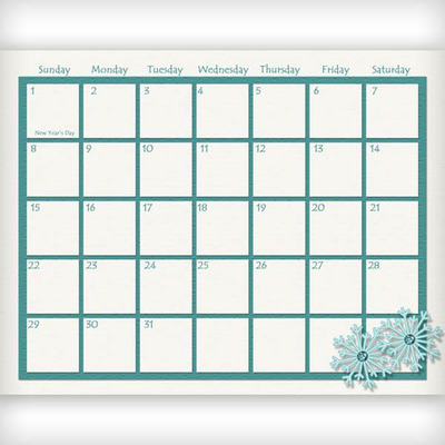 Digital Calendar Template  BesikEightyCo