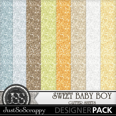 Sweet_baby_boy_glitter_papers