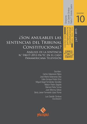 ¿Son anulables las sentencias del Tribunal Constitucional?