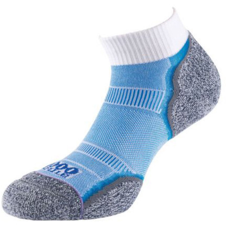 1000 Mile Breeze Anklet Sock - Medium White/Blue | Running Socks