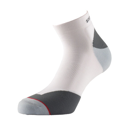1000 Mile Fusion Anklet Sock - Xtra Large (12-14UK) White/Grey