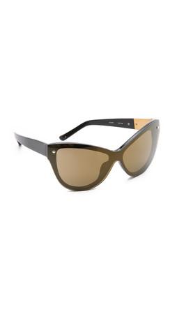 3.1 Phillip Lim Cat Eye Sunglasses - Black/Brass