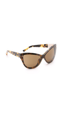 3.1 Phillip Lim Cat Eye Sunglasses - Graphic T Shell/Brown