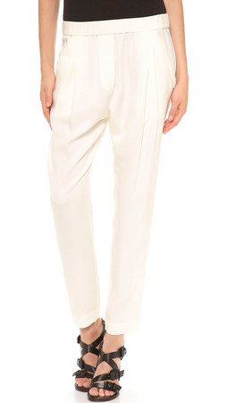 3.1 Phillip Lim Draped Pocket Trousers - White
