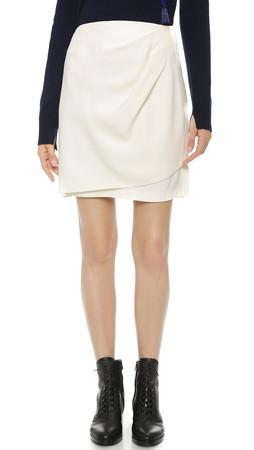 3.1 Phillip Lim Draped Wrap Skirt - Antique White