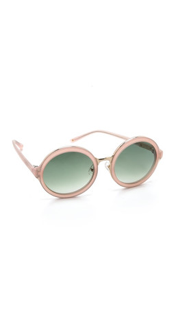 3.1 Phillip Lim Glam Round Sunglasses - Frosted Salmon