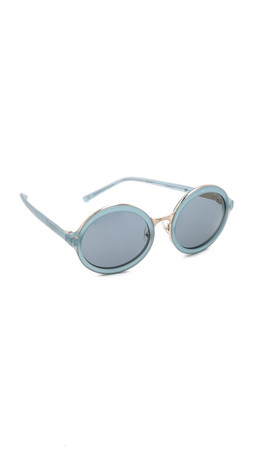 3.1 Phillip Lim Round Sunglasses - Utility Blue/Navy